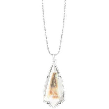 CAROLE NECKLACE IN SUSPENDED BLACK PEARL by Kendra Scott