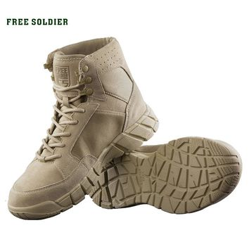 FREE SOLDIER Outdoor sports camping hiking tactical military shoes combat light boots for men
