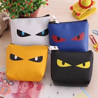 New Brand Cat Monster Mini Cute Coin Purses Cheap Casual PU Leather Purse For Coins Children Wallet Girls Small Pouch Women Bags