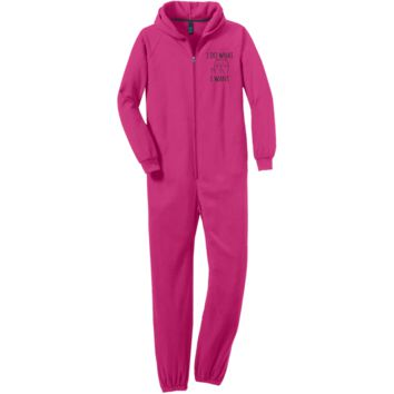 I do what I want Adult Fleece Onesuit