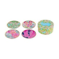 Ceramic Coaster Set in In the Bungalows by Lilly Pulitzer - FINAL SALE