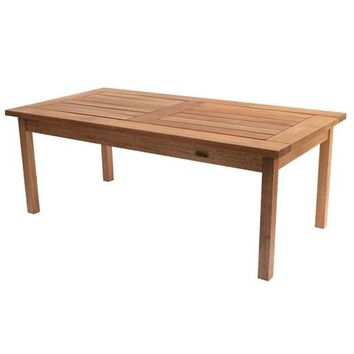 Solid Wood Coffee Table with Galvanized Steel Hardware