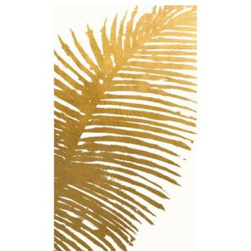Gold Mono Leaves 2 | Canvas Artwork | Art by Type | Art | Z Gallerie