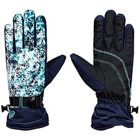 Roxy Jetty Snow Gloves Blue - 2018