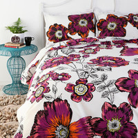 Sketchbook Floral Duvet Cover