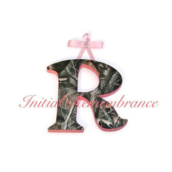 Pink Camo RealTree Wall Letters Custom Wooden Camouflage name sign for nursery or child's room decoration room decor personalized letters