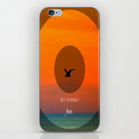 Set yourself Free iPhone & iPod Skin by Laura Santeler