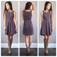 An Acid Wash Plum Dress