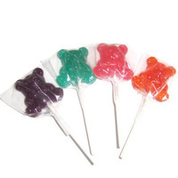 8 Teddy Bear Lollipops - Assorted Surprise Pack - Easter Basket Treats