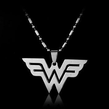 Movie jewelry Assassin's Creed Wonder Woman Fairy Tail X-men Resident Evil stainless steel Pendant Necklace