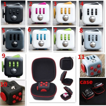 1PCs Stress Relief 6-side Fidget Cube Reduce Pressure For Family Adults Kids FS™  [9145123078]
