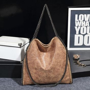 Famous Designer Women Shoulder Bags 2016 Hot Female Bags Chain Messenger Bag Brand Tote Hobos Handbag Bolsos Women Purse Bags