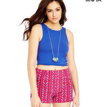 Aeropostale  Womens Tribal High-Waisted Jacquard Slim Fit Shorts