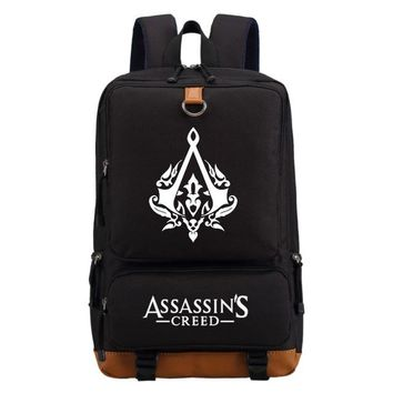 Girls bookbag WISHOT Assassins Creed backpack Boy Girl for teenagers Men women's Student School Bags travel Shoulder Bag Laptop Bags bookbag AT_52_3