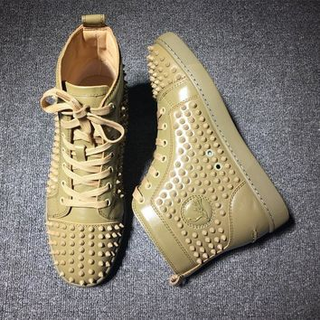 Cl Christian Louboutin Louis Spikes Style #1899 Sneakers Fashion Shoes - Best Deal Online