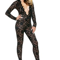 Lace Hooded Jumpsuit
