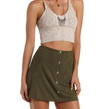 Blush Cropped Sweater Knit Tank Top by Charlotte Russe
