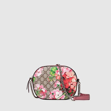 Gucci - Blooms GG Supreme Mini Chain Bag 409535KU2IN8693