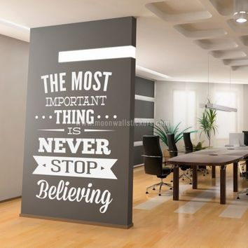 Never Stop Believing wall sticker - Moon Wall Stickers