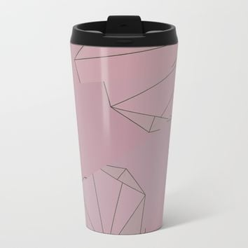 Shapes Shifted Metal Travel Mug by DuckyB