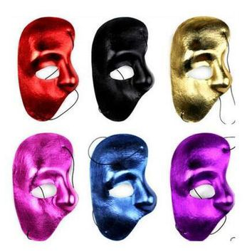 New Mask Right Half Face Phantom Of The Night Opera Men Women Masks Masquerade Party Masked Ball mask Halloween festive