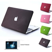 """Mosiso MacBook Air 13 Case, Soft-Touch Plastic See Through Hard Shell Snap On Case Cover for MacBook Air 13.3"""" (A1466 & A1369) (Wine Red) with One Year Warranty"""