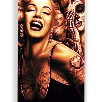 iPhone 4 Case - Hard (PC) Cover with Marilyn Monroe Day Of The Dead Plastic Case Design