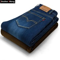 Brother Wang New winter male Brand jeans