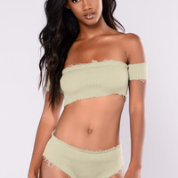 Cullens Bandeau Top - Olive