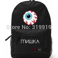 8 colours New hot best Harajuku violence eye star bag bear backpack leisure lovers rucksack children's high schoolbag