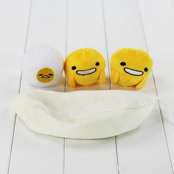 Great 3pcs/lot Gudetama lazy egg yolk brother stuffed pod plush toy with pea pod bag Gift for Christmas