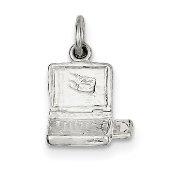 Sterling Silver Laptop Computer Charm QC1001