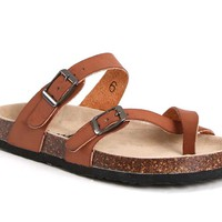 Outwoods Bork Double Strap Sandals for Women in Brown 21321-102