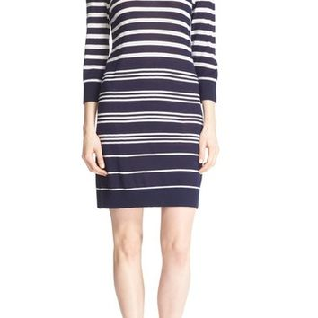 Equipment 'Marta' Stripe Silk & Cashmere Knit Dress | Nordstrom