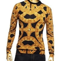Versace - Pullover with Barocco Chain Print