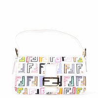 Fendi Ff Canvas Baguette Bag Multicolor