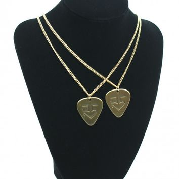 Gold Guitar Pick Necklace | R5 Rocks