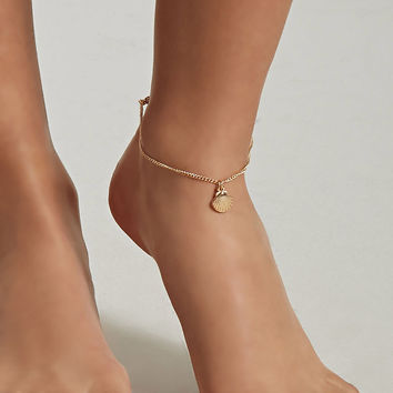 Shell Charm Anklet