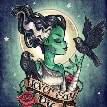 Never Say Die Art Print by Tim Shumate