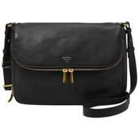 Fossil Preston Leather Flap Shoulder Bag | macys.com