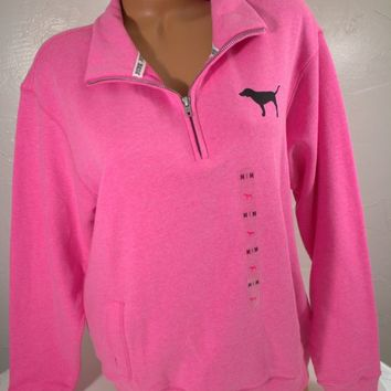 Victoria's Secret ~Love Pink~ Boyfriend Half-Zip Pullover, script 86, PICK ONE