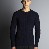 Patrol Cableknit Sweater - Navy
