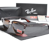 rayban-T631 Red Frame brown Lens Sunglasses