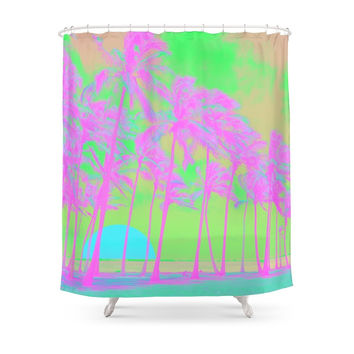 Society6 To The Beach Shower Curtain