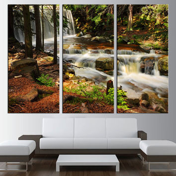 forest river canvas print wall art extra large wall art trees wall art