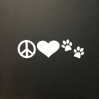 Peace Love Paws - Double Paw Prints