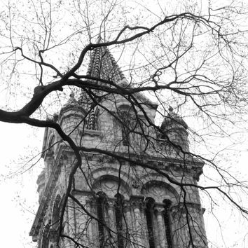 Architectural Photography, St. Louis Church Photo, Cathedral Basilica, Black White Picture, Religious Faith, Art Print Photograph Home Decor