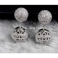 Simone Double Ball Stud Earrings
