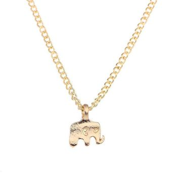 Elephant Necklace with Inspirational Message Card