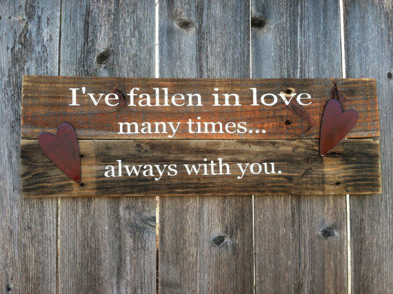 Valentines Day Love Phrase Wooden Sign From Rusticdesigns1 On